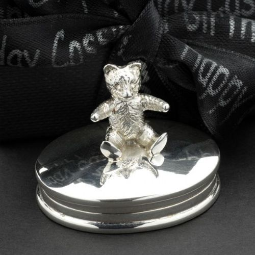 Sterling Silver Teddy Tooth Box